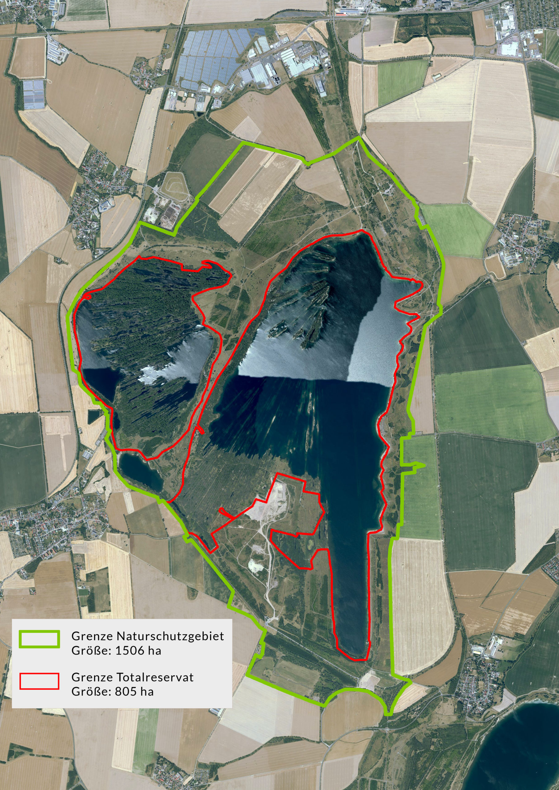 Übersichtskarte Naturschutzgebiet Werbeliner See © Geoportal Nordsachsen