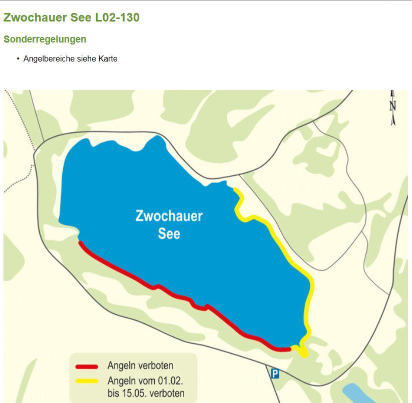 Zwochauer See: Angelbereich und Zeitraume